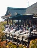 Varanda no templo de Kiyomizu-dera, Kyoto foto de stock