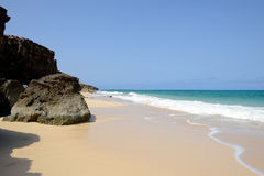 Varandinha Beach in Boa Vista, Cape Verde Royalty Free Stock Photo
