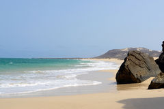 Varandinha Beach in Boa Vista, Cape Verde Royalty Free Stock Photography