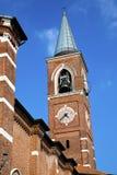 Varano borghi老摘要在意大利墙壁高耸 库存图片