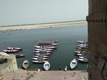 Varansi ghat stock afbeeldingen