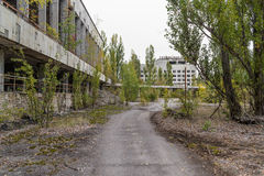 20 2006 varar spökskrivareare den utgångspunkter bebodde inte pripyattownen som gårdår Fotografering för Bildbyråer