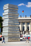 varar upphovsman till den berlin tysken Arkivfoto