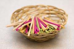Varas aromáticas coloridas Fotografia de Stock