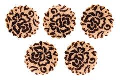Varas brancas do biscoito isoladas na opinião superior do fundo branco Fotografia de Stock Royalty Free