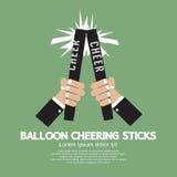 Varas Cheering do balão Imagem de Stock Royalty Free