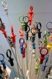 Varas coloridas do mergulho Fotos de Stock Royalty Free