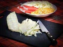 Varas da couve, do milho e do caranguejo Fotos de Stock Royalty Free