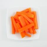 Varas de cenoura alaranjadas frescas Fotografia de Stock