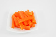 Varas de cenoura alaranjadas frescas Imagens de Stock Royalty Free