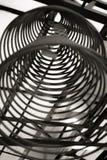 Varas de Joss incensesChinese circulares no templo chinês Foto de Stock