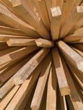 Varas de madeira Foto de Stock
