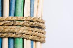 Varas de madeira Fotos de Stock