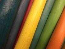 Varas de madeira coloridas Fotografia de Stock