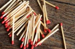 Varas de madeira do fósforo Fotografia de Stock Royalty Free