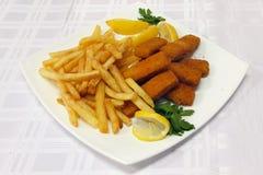 Varas de peixes fritadas Fotografia de Stock