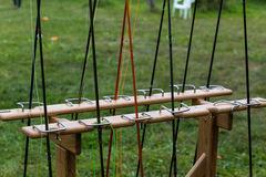 Varas de pesca diferentes Foto de Stock Royalty Free