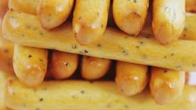 Varas do biscoito com sementes de papoila video estoque
