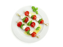 Varas do tomate e do mozzarella imagens de stock