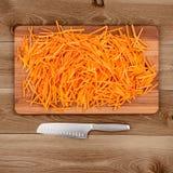 Varas e faca de cenoura Imagem de Stock