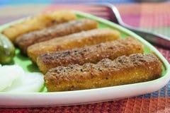 Varas fritadas das pescadas Fotografia de Stock