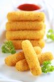 Varas fritadas Mozzarella imagem de stock