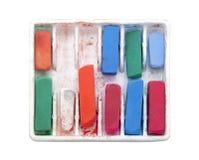 Varas pastel coloridas com trajeto de grampeamento Foto de Stock Royalty Free