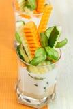 Varas vegetais em um vidro Fotografia de Stock Royalty Free