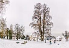 Varazdin城堡公园 免版税库存照片