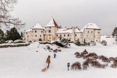 Varazdin城堡在克罗地亚 免版税库存图片