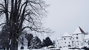 Varazdin Castle in Croatia. Varazdin Castle and museum in winter time, one of the most important tourist centers of northern Croatia stock video