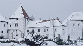 Varazdin Castle in Croatia stock video footage