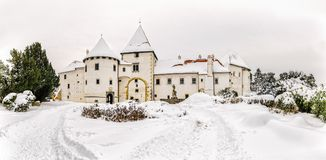 Varazdin Old Town and Castle Stock Photography