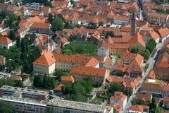 Varazdin, Croatia. Aerial view of Varazdin, city in northwestern Croatia Stock Photography