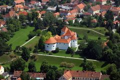 Varazdin, Croatia. Varazdin castle in the Old Town, originally built in the 13th century in Varazdin, Croatia Stock Photo
