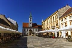 Varazdin huvudsaklig fyrkant, Kroatien arkivbilder