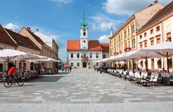 Varazdin - il Croatia immagini stock
