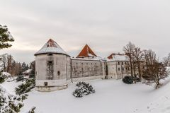 Varazdin Old Town and Castle Stock Photo
