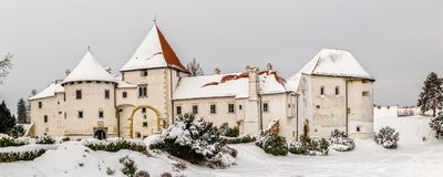 Varazdin Old Town and Castle Stock Photos
