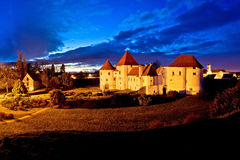 Varazdin old town landmark evening view Stock Image