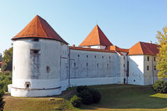 Varazdin slott, Kroatien Arkivfoto