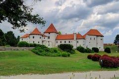 Varazdinkasteel in Varazdin, Kroatië stock afbeelding