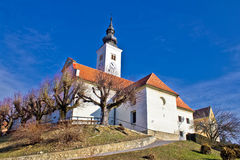Varazdinske toplice - church on hill Royalty Free Stock Photo