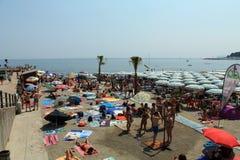 Varazze beach Royalty Free Stock Image
