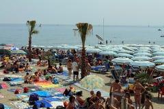 Varazze beach Stock Image