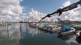 Varberg harbour Sweden stock video