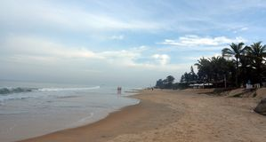 Varca Beach in the morning royalty free stock photography