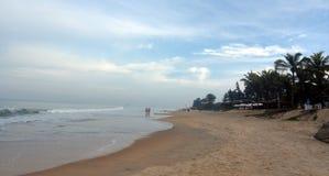Varca plaża w ranku fotografia royalty free