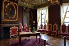 Vardagsrum av åhörare i en slott Royaltyfri Bild