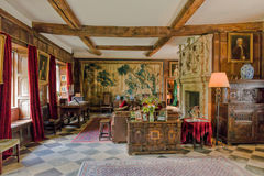Vardagsrum Baddesley Clinton Manor House, Warwickshire Royaltyfri Bild